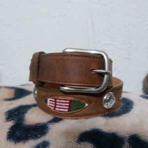 Vintage circle y leather belt size 26 brand new